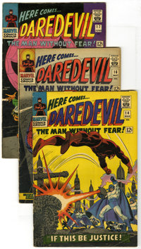 Daredevil Group (Marvel, 1966-67) Condition: Average VG. Lot of ten Daredevil books is comprised of #14, 16 (Spider-Man...