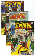 Bronze Age (1970-1979):Superhero, Daredevil Group (Marvel, 1970-72) Condition: Average VG/FN. Lot of seventeen comics from the Daredevil title contains #6... (Total: 17)
