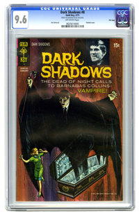 Dark Shadows #8 File Copy (Gold Key, 1971) CGC NM+ 9.6 Off-white pages. Painted cover. Joe Certa art. Overstreet 2006 NM...