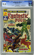 Silver Age (1956-1969):Superhero, Fantastic Four Annual #5 (Marvel, 1967) CGC VF/NM 9.0 Off-white to white pages. First solo Silver Surfer story. First appear...