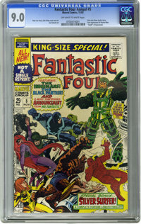 Fantastic Four Annual #5 (Marvel, 1967) CGC VF/NM 9.0 Off-white to white pages. First solo Silver Surfer story. First ap...