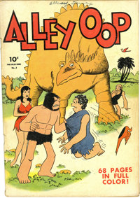 Four Color #3 Alley Oop (Dell, 1942) Condition: VG-. One of the earliest books of series two in this legendary title. Ov...