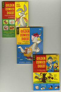 Golden Comics Digest Box Lot (Gold Key, 1969-73) Condition: Average VF/NM. This high-grade box lot includes two copies e...