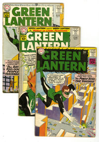 Green Lantern #5 through 10 Group (DC, 1961-62) Condition: Average VG-. This group contains issues #5, 6, 7, 8, 9, and 1...