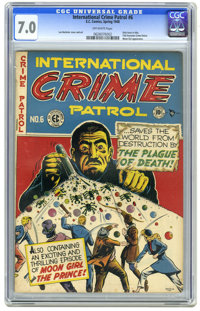 International Crime Patrol #6 (EC, 1948) CGC FN/VF 7.0 Off-white pages. The only issue with this title. Title becomes Cr...