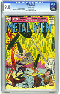 Metal Men #1 (DC, 1963) CGC VF/NM 9.0 Off-white pages. This issue features the fifth appearance of the Metal Men. It has...