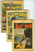 Golden Age (1938-1955):Miscellaneous, Miscellaneous Golden Age Coverless Group (Various Publishers, 1940-46) Condition: Coverless. Included here are coverless cop... (Total: 6 Comic Books)