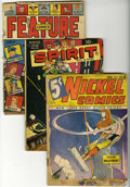 Golden Age (1938-1955):Miscellaneous, Miscellaneous Golden Age Group (Various Publishers, 1940-67) Condition: FR. A copy of Nickel Comics #8 is the highlight ... (Total: 9 Comic Books)