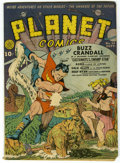 Golden Age (1938-1955):Science Fiction, Planet Comics #14 (Fiction House, 1941) Condition: GD+. BuzzCrandall swings into action on this Dan Zolnerowich cover. Inte...