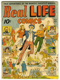 Golden Age (1938-1955):Non-Fiction, Real Life Comics #1 (Nedor Publications, 1941) Condition: GD. UncleSam cover and story. Daniel Boone Story. Alex Schomburg ...
