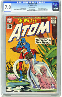 Showcase #34 The Atom (DC, 1961) CGC FN/VF 7.0 Off-white pages. Origin and first appearance of the Silver Age Atom (Ray...