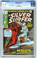 Bronze Age (1970-1979):Superhero, The Silver Surfer #16 (Marvel, 1970) CGC NM- 9.2 White pages. The Silver Surfer battles Mephisto. Nick Fury and Dum-Dum Duga...