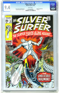 Bronze Age (1970-1979):Superhero, The Silver Surfer #18 (Marvel, 1970) CGC NM 9.4 White pages. Jack Kirby cover and art. Herb Trimpe art. The Inhumans guest-s...