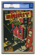 Golden Age (1938-1955):Crime, The Spirit #14 Crowley Copy pedigree (Quality, 1948) CGC VF+ 8.5 Cream to off-white pages. Will Eisner combines a balancing ...