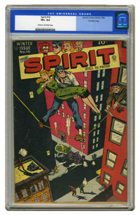 The Spirit #14 Crowley Copy pedigree (Quality, 1948) CGC VF+ 8.5 Cream to off-white pages. Will Eisner combines a balanc...