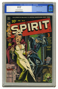 The Spirit #20 (Quality, 1950) CGC VF 8.0 Light tan to off-white pages. Classic Will Eisner headlight cover and art. Thi...