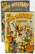 Golden Age (1938-1955):Superhero, Super-Mystery Comics V2#1 and V2#3 Group (Ace, 1941) Condition: Average GD. Group of two Super-Mystery Comics contains V... (Total: 2 Comic Books)