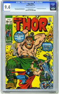 Bronze Age (1970-1979):Superhero, Thor #184 (Marvel, 1971) CGC NM 9.4 Off-white to white pages. First appearance of the Silent One. John Buscema cover art. Bu...