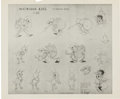 animation art:Model Sheet, Woodland Cafe Printed Model Sheet Animation Art Group (WaltDisney, 1937).... (Total: 3 Original Art)
