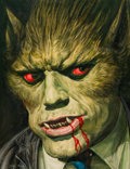 "Original Comic Art:Covers, Josh Kirby The 13th Pan Book of Horror Stories Front Cover""Werewolf"" Illustration Original Art (Macmillan, 1972)...."
