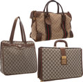 Movie/TV Memorabilia:Memorabilia, A Frank Sinatra-Gifted Group of Gucci Bags, 1970s.... (Total: 3Items)
