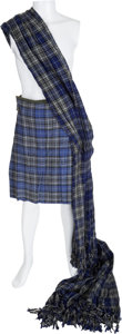 "Movie/TV Memorabilia:Costumes, A George Chakiris Kilt and Sash from ""Brigadoon.""... (Total: 2 Items)"