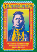 "Music Memorabilia:Posters, Jefferson Airplane ""Indian"" Shrine Auditorium Concert Poster (Pinnacle Productions, 1968)...."