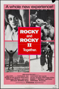 "Movie Posters:Sports, Rocky/Rocky II Combo (United Artists, R-1980). One Sheet (27"" X 41""). Sports.. ..."