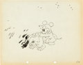 Animation Art:Production Drawing, Mickey's Nightmare Mouse Child Production Drawing AnimationArt (Walt Disney, 1932)....