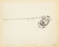 Animation Art:Production Drawing, The Mail Pilot Mickey Mouse Production Drawing Animation Art(Walt Disney, 1933)....