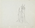 Animation Art:Production Drawing, Sleeping Beauty Maleficent and Diablo Production DrawingAnimation Art (Walt Disney, 1959)....