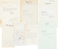 Movie/TV Memorabilia:Autographs and Signed Items, A Singer/Actor Group of Signed Letters, 1950s-1960s. ...