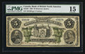 Canadian Currency: , Montreal, PQ- The Bank of British North America $5 May 28, 1886 Ch.# 55-22-02. ...