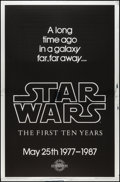 "Movie Posters:Science Fiction, Star Wars (Kilian Enterprises, R-1987). 10th Anniversary SilverMylar One Sheet (27"" X 41"") Style A. Science Fiction.. ..."