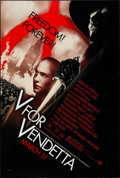 """Movie Posters:Action, V for Vendetta (Warner Brothers, 2005). One Sheet (27"""" X 40"""") DS Advance. Action.. ..."""