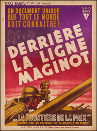 """The March of Time (RKO, 1938). French Grande (47"""" X 63"""") """"Inside the Maginot Line."""" Documentary"""