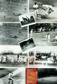 [Baseball] Small Archive of Material Relating to Baseball. May include photographic reproductions, negatives, slides