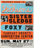 Music Memorabilia:Posters, The Jacksons Tarrant County Convention Center Concert Poster(1979)...