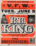 Music Memorabilia:Posters, B. B. King Greenville Mississippi Concert Poster (c. 1970)....