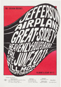 Music Memorabilia:Posters, Jefferson Airplane/Great Society Fillmore Auditorium ConcertPoster, BG-10 (Bill Graham, 1966)....