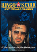 Music Memorabilia:Autographs and Signed Items, Ringo Starr and his All Starrs Signed Japan Tour Concert Poster(1995)....