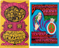 Music Memorabilia:Posters, The Doors Fillmore/Winterland Concert Poster Group (Bill Graham,1967).... (Total: 2 Items)
