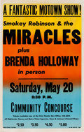 Music Memorabilia:Posters, Smokey Robinson and the Miracles/Brenda Holloway San Diego ConcertPoster (James C. Pagni Co.,1967)....