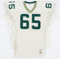 Football Collectibles:Uniforms, 1991 Ron Hallstrom Game Worn Green Bay Packers Jersey....