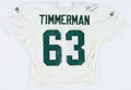 Football Collectibles:Uniforms, 1994 Adam Timmerman Practice Worn, Signed Green Bay Packers Jersey....