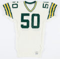 Football Collectibles:Uniforms, 1991 Johnny Holland Game Worn Green Bay Packers Jersey - With Enormous Team Repair!...