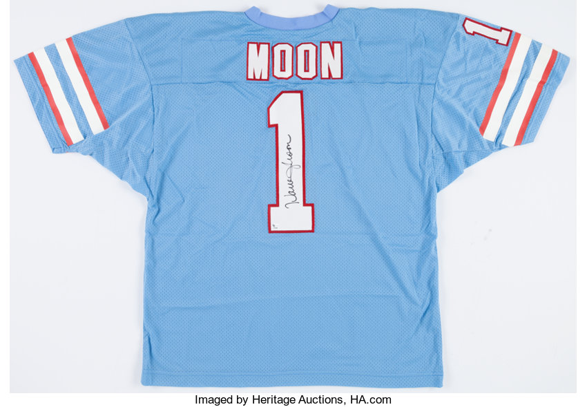 Warren Moon Signed Houston Oilers Jersey.... Football Collectibles ... fa52e1f6c
