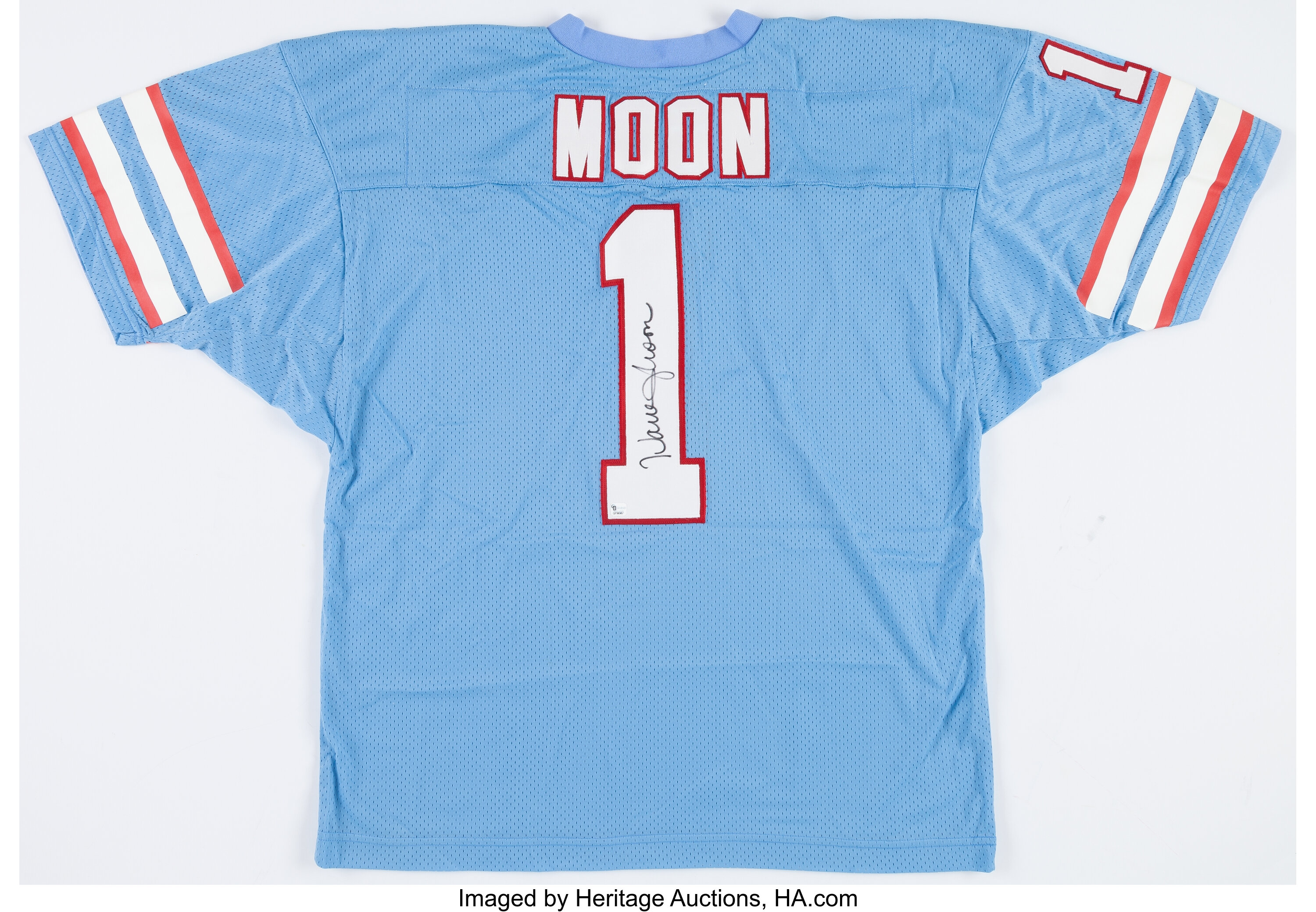 new concept 2be07 142fc Warren Moon Signed Houston Oilers Jersey.... Football ...