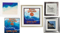 Music Memorabilia:Original Art, Rick Griffin Original Album Artwork (1980s).... (Total: 5 Items)