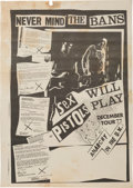 Music Memorabilia:Posters, Sex Pistols December 1977 Never Mind The Bans Tour Poster,Glitterbest LTD, 1977....